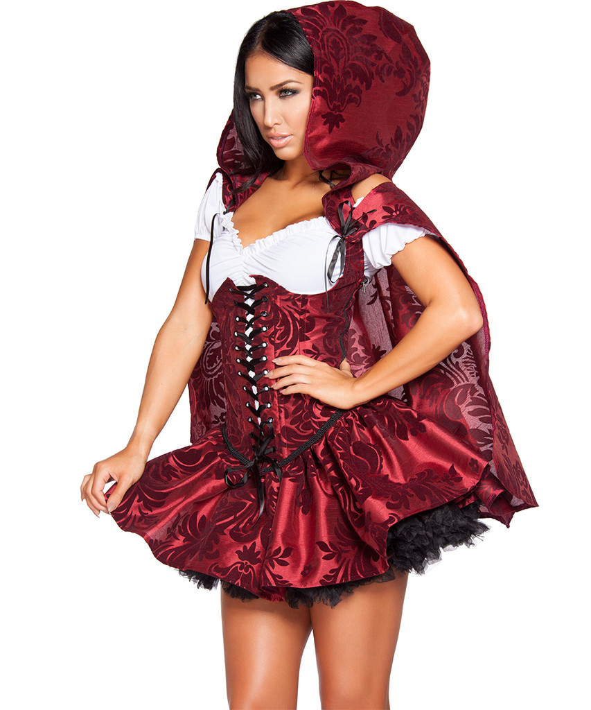 Lil' Red Riding Hood (style 4616) w Black Petticoat  -  © 2016 Roma Costumes, Inc.