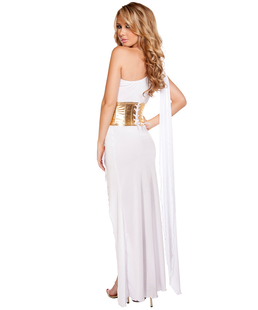 Georgeous Grecian Goddess Costume - White - Back -  © 2016 Roma Costumes, Inc.