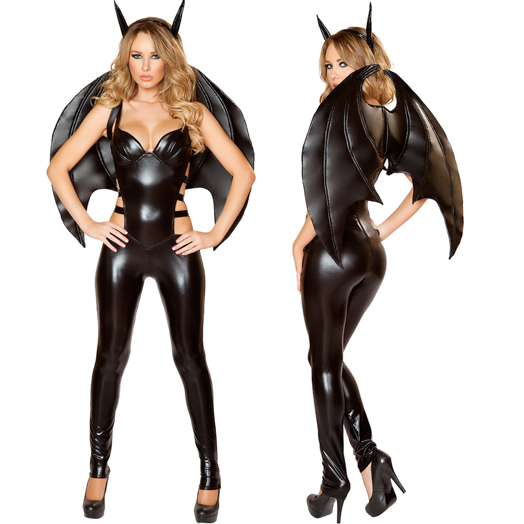 Bat Costume # 4487 - Shown with Bat Wings -  © 2016 Roma Costumes, Inc.