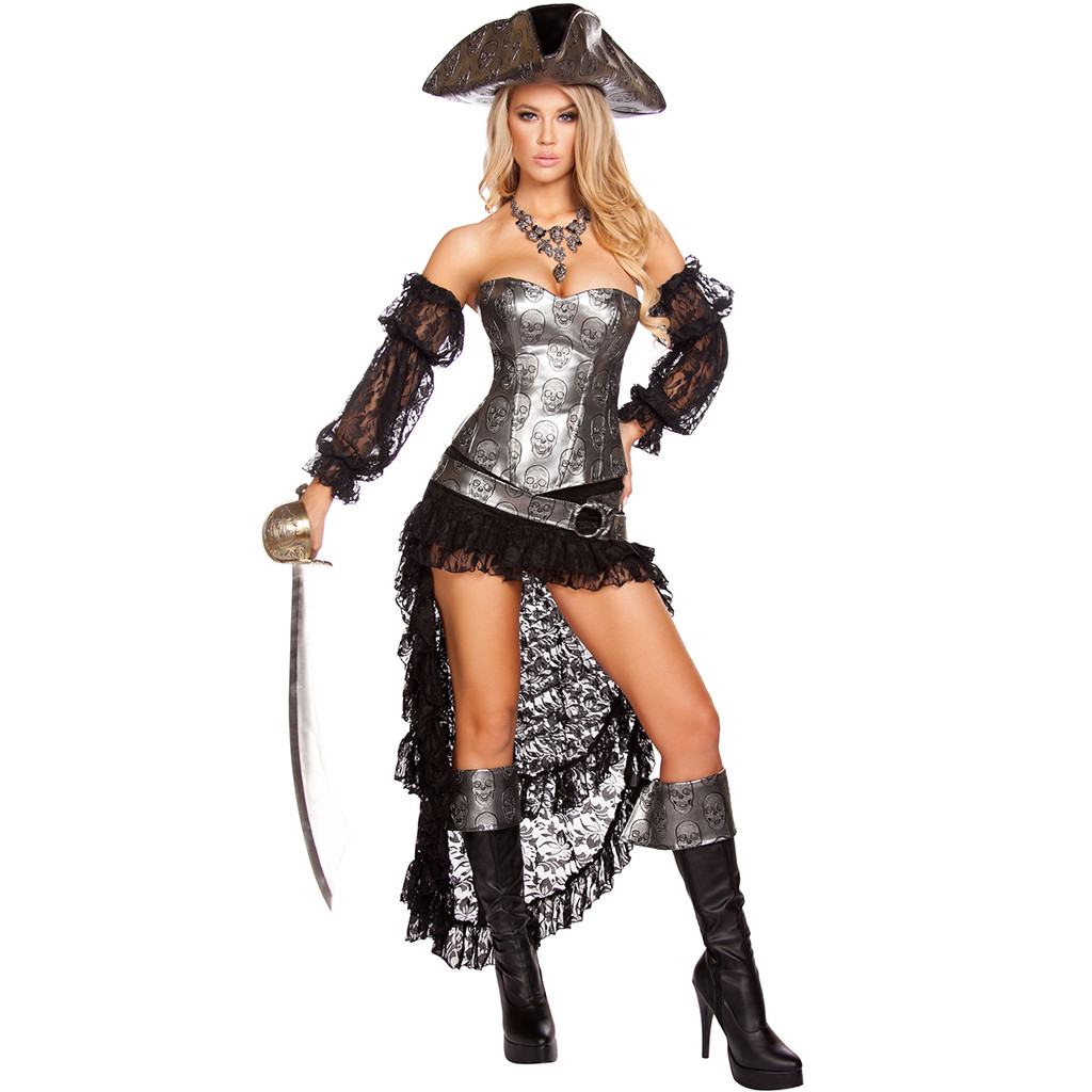 Style 4572 - Pirate Wench w Pirate Hat  -  © 2016 Roma Costumes, Inc.