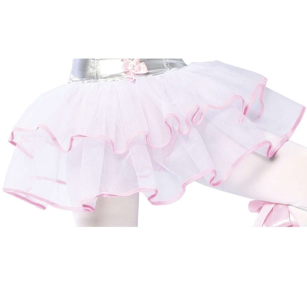 Double Layer Petticoat - WHITE w BABY PINK  -  © 2016 Roma Costumes, Inc.