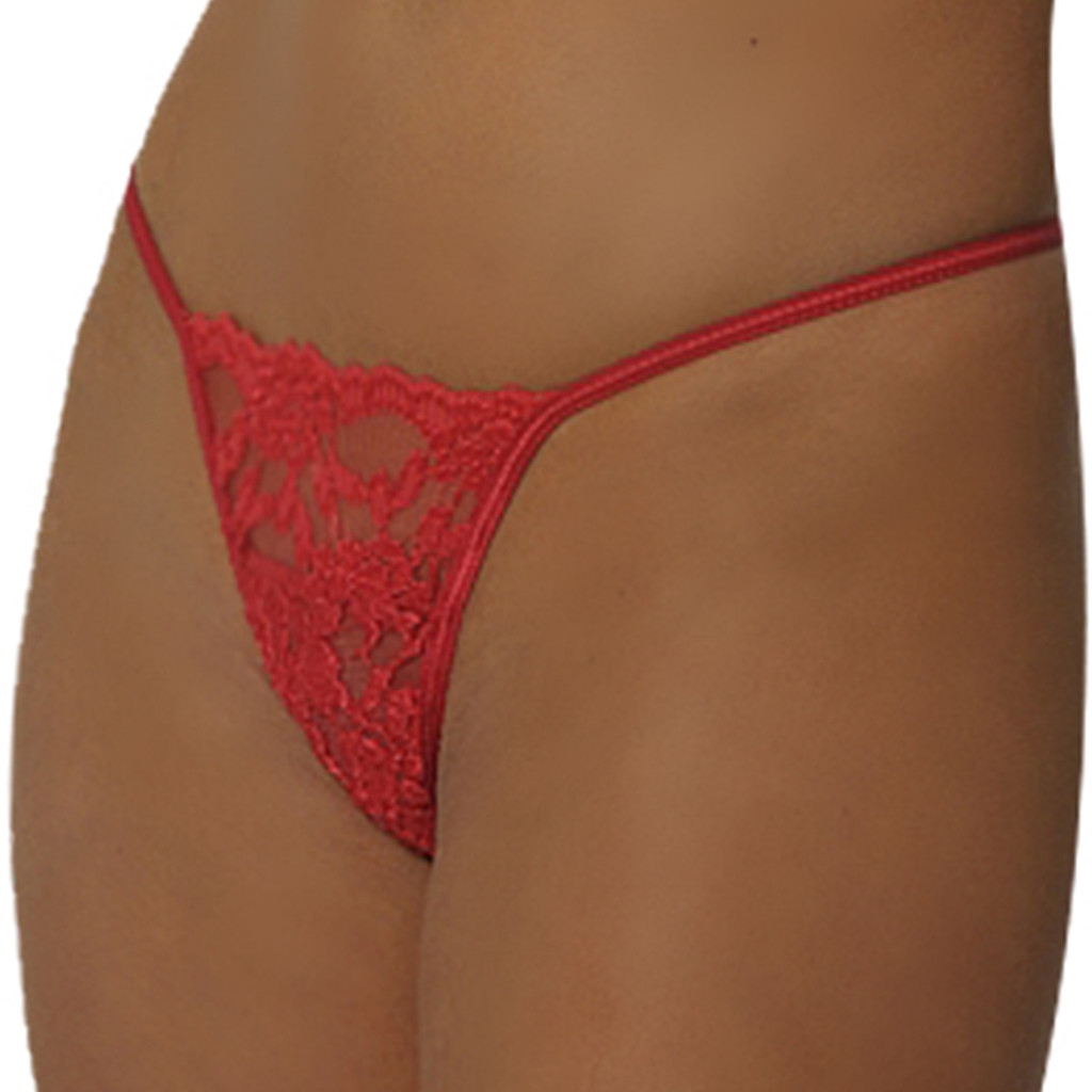 Luster Lace G-String - Matches # 4108 Bra - 6 Colors - BULK PRICING Available - O/S,  XL