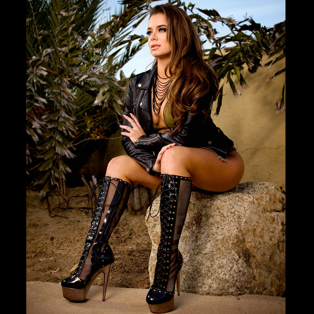 """6"""" Metallic Microfiber Boot w Platform and Lace Up Front - Sz 5 - 12"""