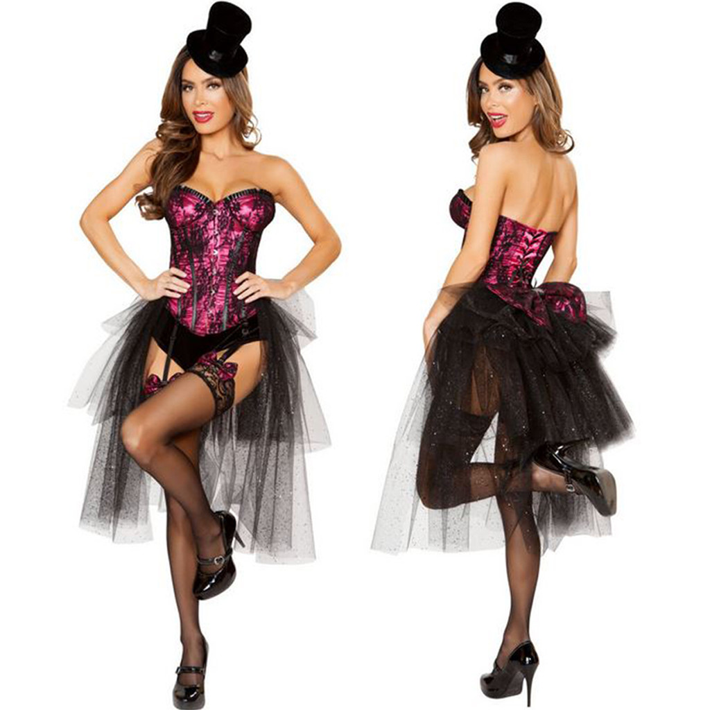 3 Pc Burlesque Girl Costume - Small - Large - Genuine Roma Product