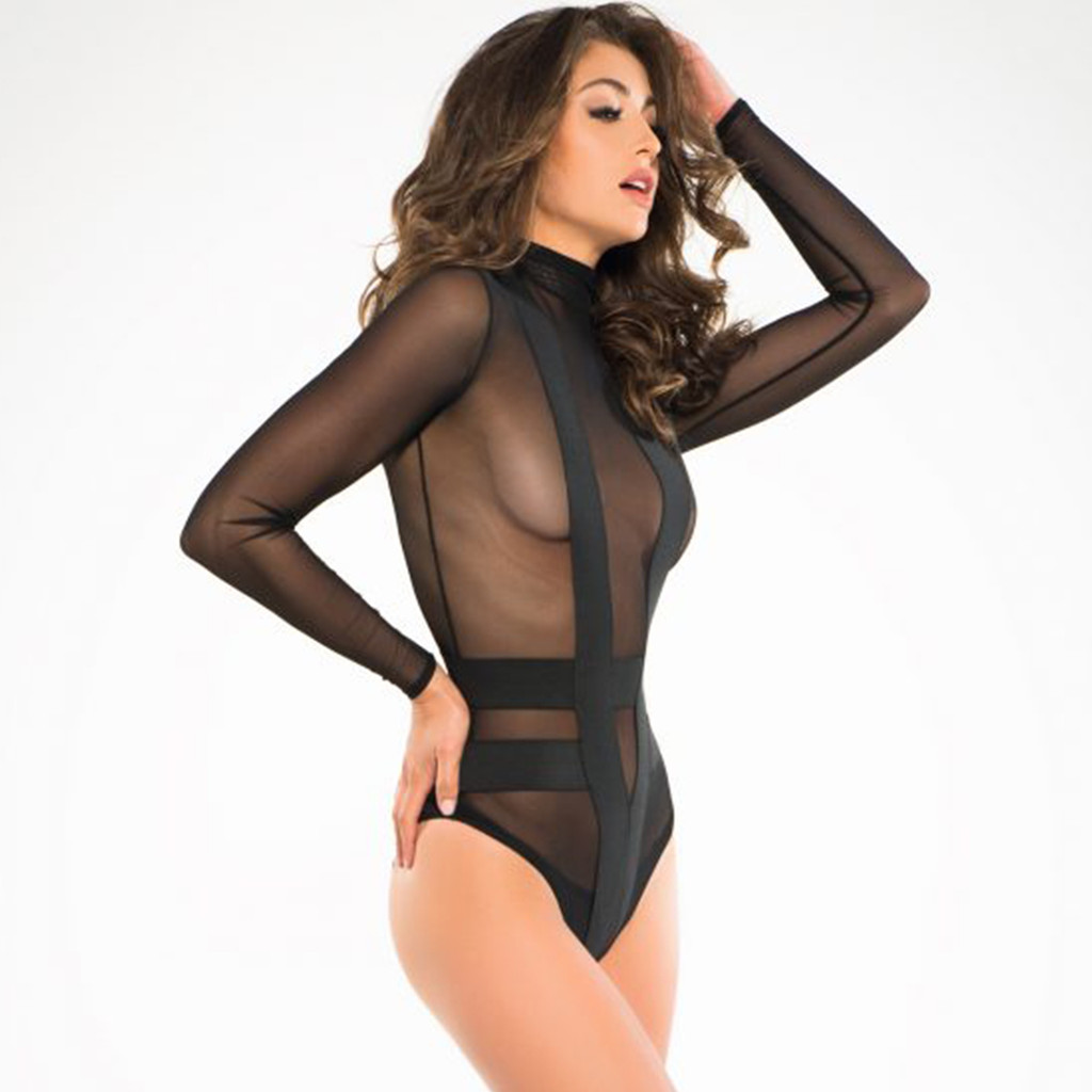 Seductively Sheer & Cheeky Body Suit- Sz S-L