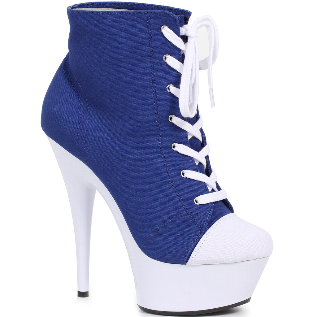 """6"""" Heel Blue Ankle Boot for Playtime Fun"""