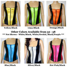 Satin Corset w Straps & Front Zipper - LOTS of Colors - Sz 32 to 50