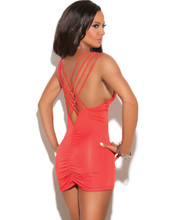 Mini Dress with Criss Cross Triple Strap and Ruched Back - Size Small to XL