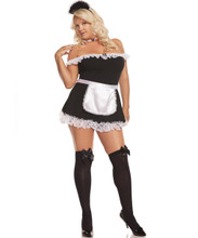4 Piece Maid Costume Set - Sizes up to 3X/4X
