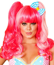 Pink Wig - Front -  © 2016 Roma Costumes, Inc.