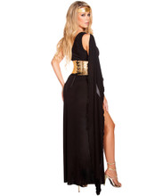Georgeous Grecian Goddess Costume - Black - Back -  © 2016 Roma Costumes, Inc.