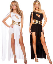 Georgeous Grecian Goddess Costume - White or Black - Front -  © 2016 Roma Costumes, Inc.