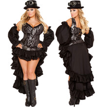 Sexy Steampunk Maiden - PLUS SIZE - Front / Back -  © 2016 Roma Costumes, Inc.
