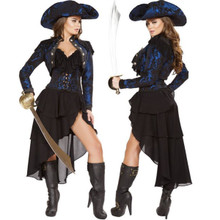 4 pc Pirate Captain of the Night Costume - Sz S - L - Genuine Roma Product