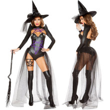 2 Pc Dark Witch Costume - Small - Large - Genuine Roma Product