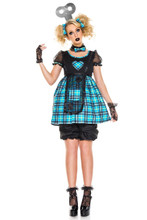 5 Pc Wind-Up Doll Costume - Sz XS-XL