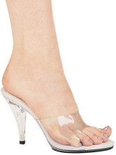 """4"""" Clear Mule Sandal - Sizes 5 to 12"""