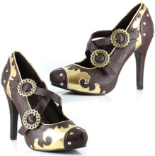 "Pumps with 4"" Heels and Metallic Gears"