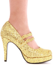 "4"" Double Strap Glitter Pump - Sizes 5 - 12"