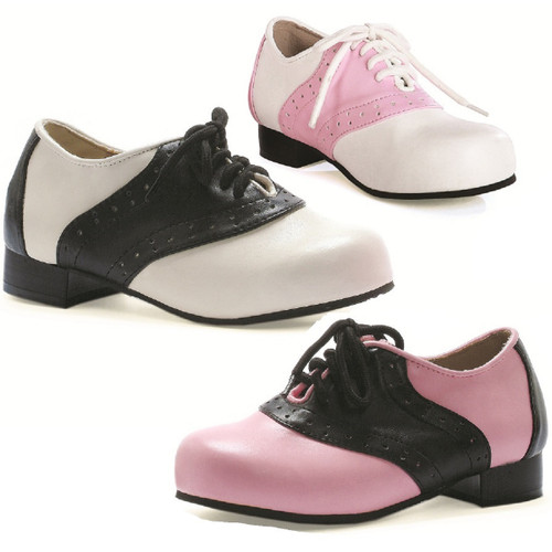 "1"" Heel 2-Tone Saddle Shoe - Sz 6-10"