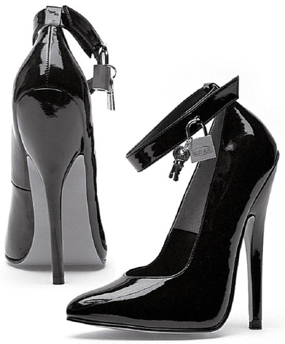 Fetish Pumps w Lock & Key - Sz 5 to 14