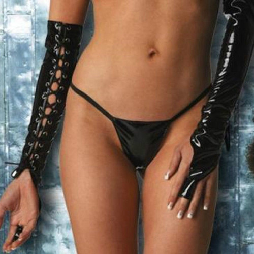 One Finger Lace Up Vinyl Arm Guards - Full Length - Sz O/S, XL