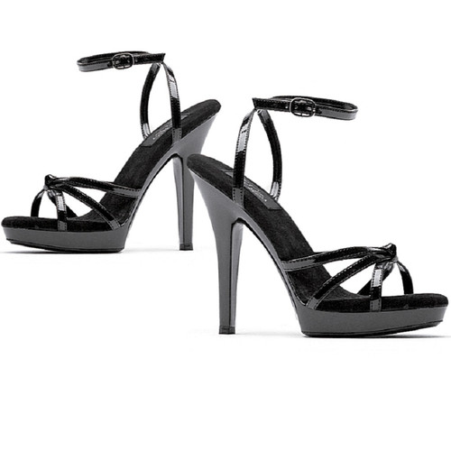 "5"" Stiletto Heel Strappy Sandal w Thin Ankle Strap"
