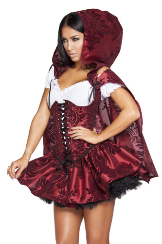 4 Piece Set Lusty Lil' Red Riding Hood - Sz Small to Large - Genuine Roma Product
