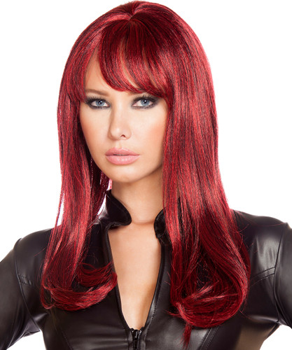 Burgundy Wig - Front -  © 2016 Roma Costumes, Inc.