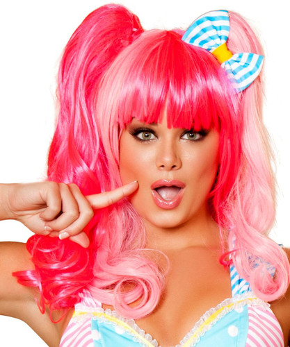 Pink Wig for Costume Fun - Genuine Roma Product
