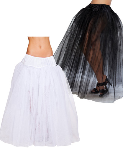 Long Petticoat - Black or White -  © 2016 Roma Costumes, Inc.