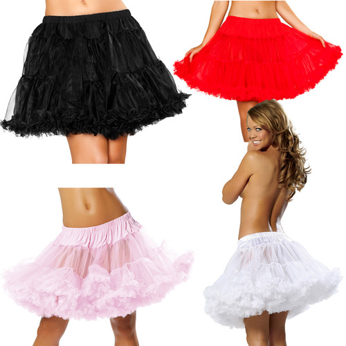 Double Layered Petticoat Accessory - Black, White, Red or Baby Pink - Size O/S - Genuine Roma Product