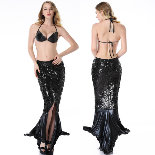 Mermaid Bra Top and Long Skirt Set - Size OS