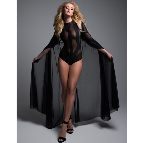 Decadently Divine Sheer Cape - Great Accent Piece! Sz O/S