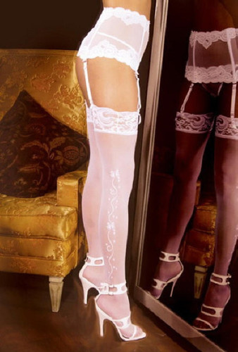 Wedding Bell Thigh Hi Stockings