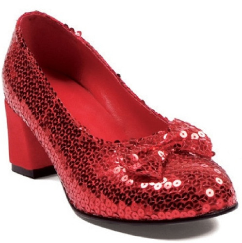 "2"" Heel Red Sequined Shoes - Great for Dorothy Wizard of Oz Costume"
