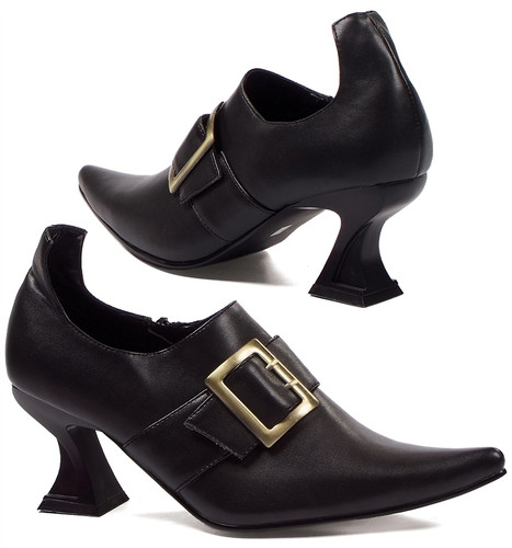 "3"" Cone Heel Witch Shoe w Buckle"