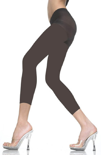 Opaque Capri Tights - BLACK - Sz O/S