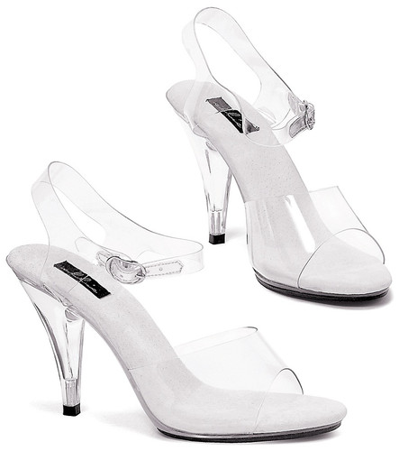 "4"" Heel Clear Sandal - Sizes 5 to 12"