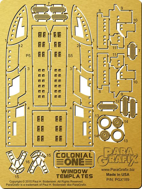 Paragrafix PGX189 1/350 Colonial One Window Templates For Moebius 945