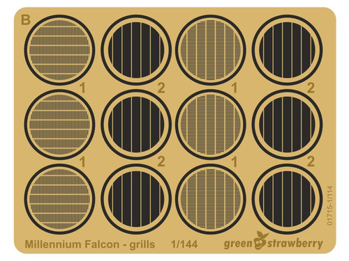 "Green Strawberry 1/144 ""Millennium Falcon"" (grills) Photoetch Set"