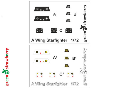 Green Strawberry 1/72 A-Wing Starfighter Photoetch Set