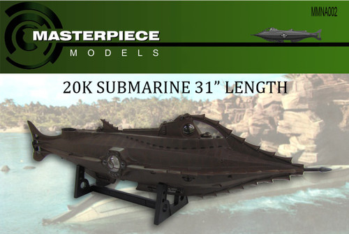 "Masterpiece Models 1/77th scale (31"") Disney Nautilus Model (RC Suitable)"