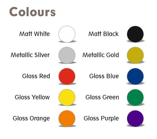 BECC Standard Arial Font Pack - 6mm (Choice Of Colours)