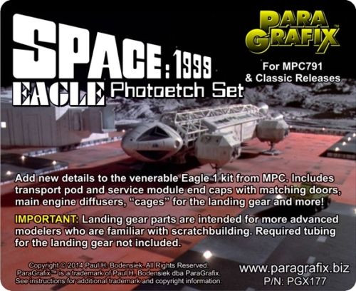 Paragrafix PGX177 Space 1999 Eagle Photoetch Set For MPC791 & Classic