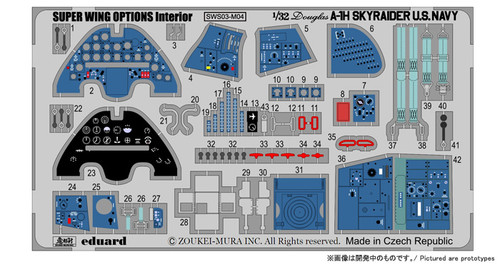Zoukei Mura SWS03-M04 - 1:32 Photo-Etched Colour Interior Set for A-1H Skyraider