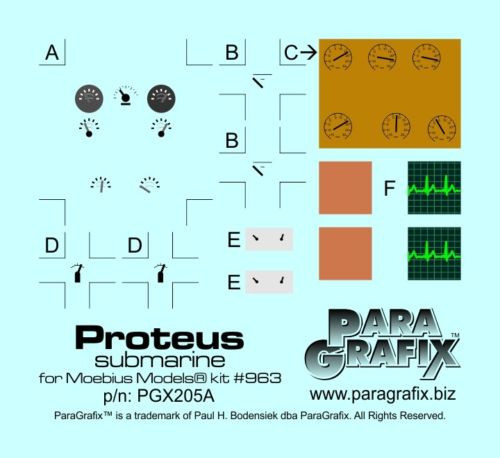 Paragrafix PGX205 1/32 NEW! Proteus Photoetch Set FOR KIT: Moebius 963