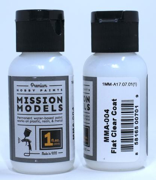 Mission Models MMA004 - FLAT CLEAR COAT 1fl.oz bottle