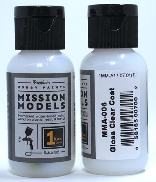Mission Models MMA006 - GLOSS CLEAR COAT 1fl.oz bottle