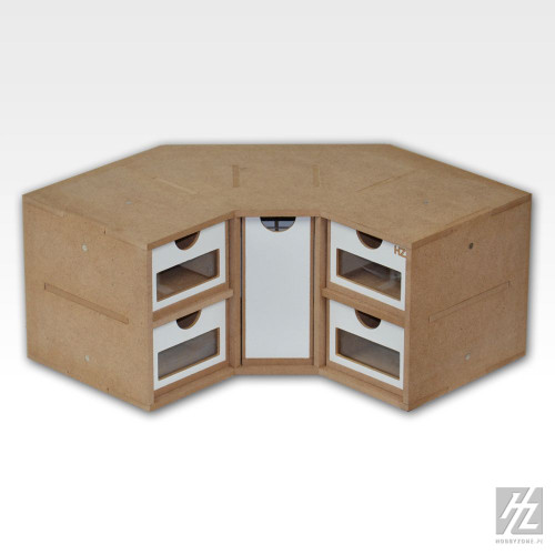 HobbyZone OM03 - Corner Drawers Module Unit 90 degree